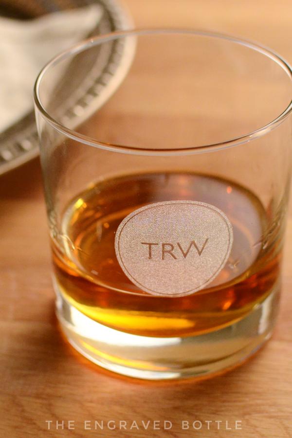 Monogram Whiskey Glass